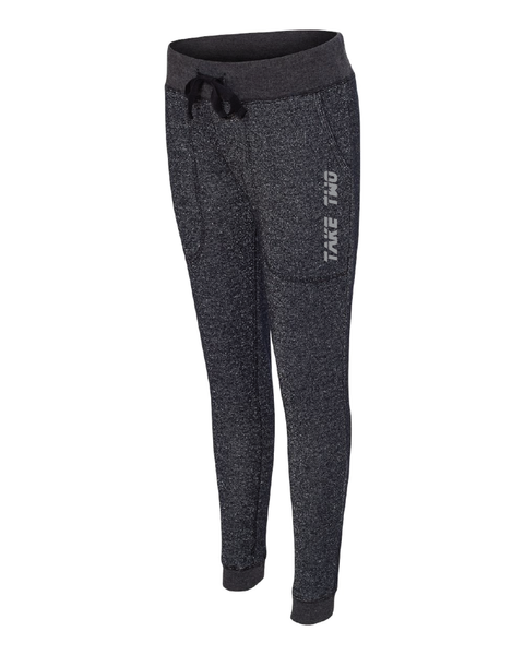 Sweatpants - Joggers - Women's Black/Silver