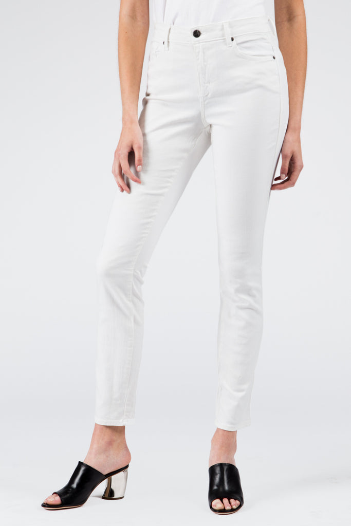 Stretch High Rise Skinny White