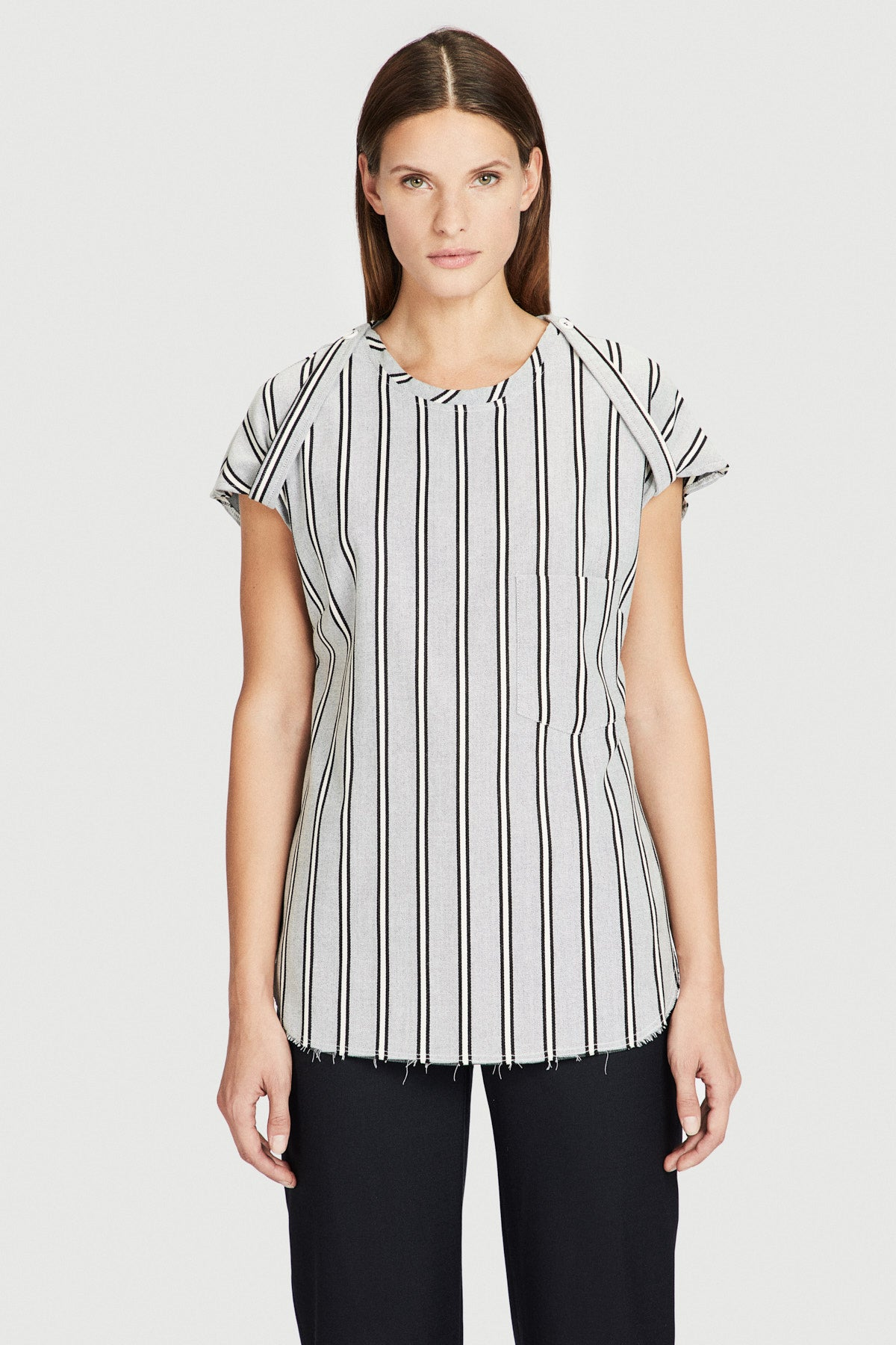 Off-White Striped Wool Tee