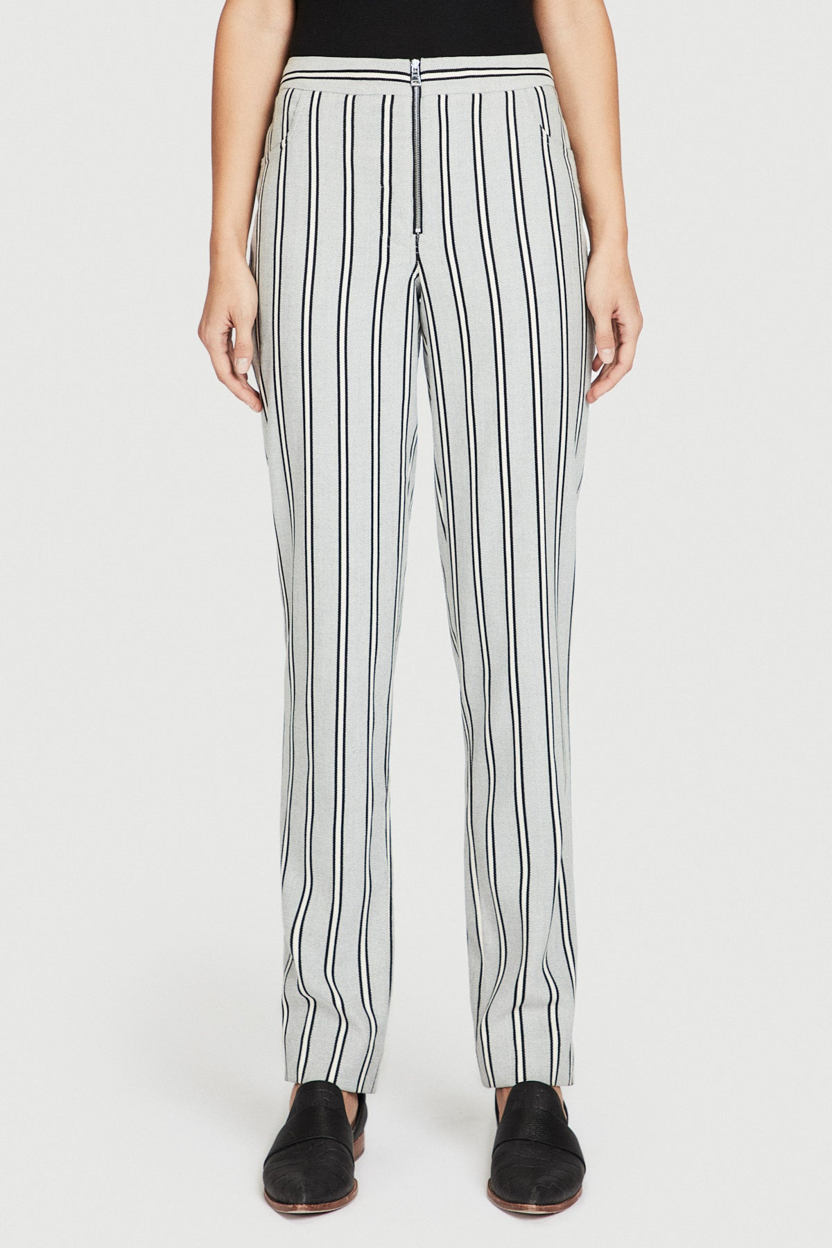 Striped Wool Trouser