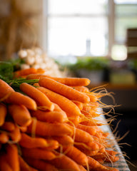 organic carrots at white gate farm in connecticut