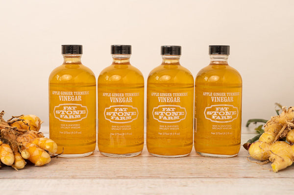 Raw Vinegar 4 Pack, Apple Ginger Turmeric