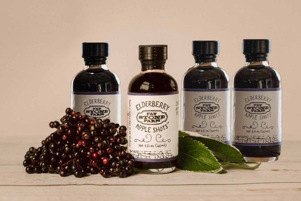 Four Pack Travel Size Elderberry Apple Shots