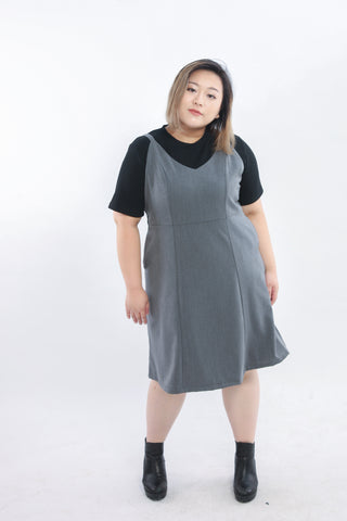Grey Pocket Cami Dress