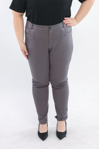 Basic Trousers In Grey