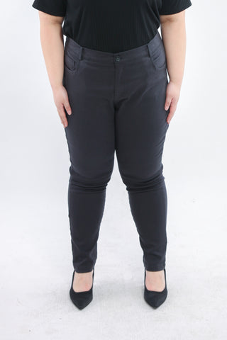 Basic Trousers In Dark Grey