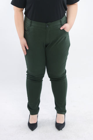 Basic Trousers In Olive
