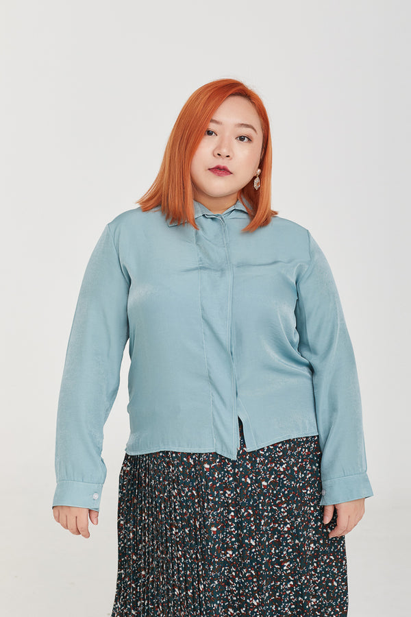 Chiffon Blouse In Blue