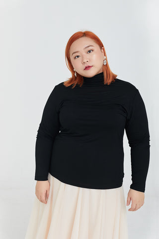 Turtleneck Top In Black
