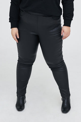 Super Elastic Leather Leggings