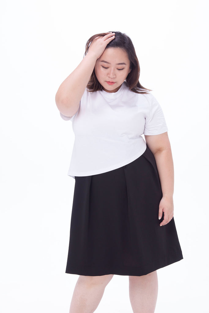 T-shirt Dress In Black and White