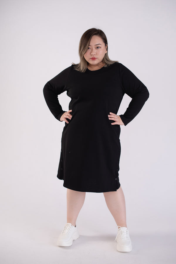 Sweat Dress In Black