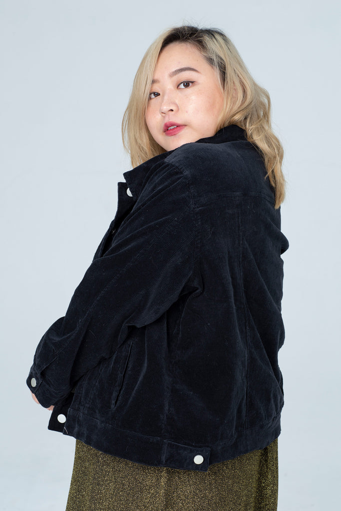 Cord Jacket In Black
