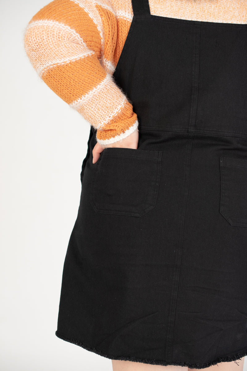 Dungarees Dress In Black