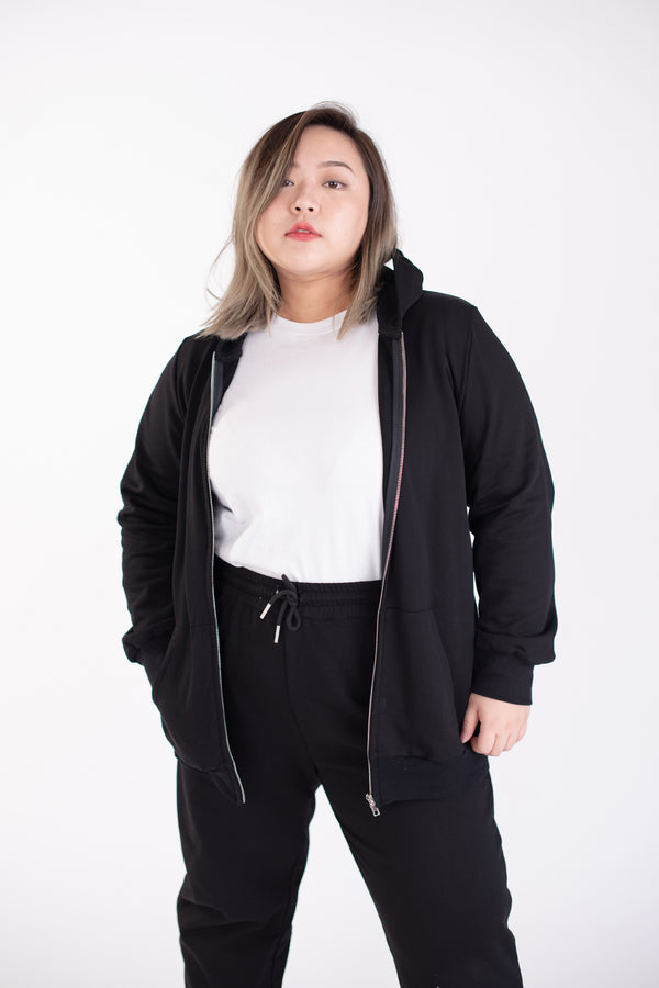 Sweat Jacket In Black