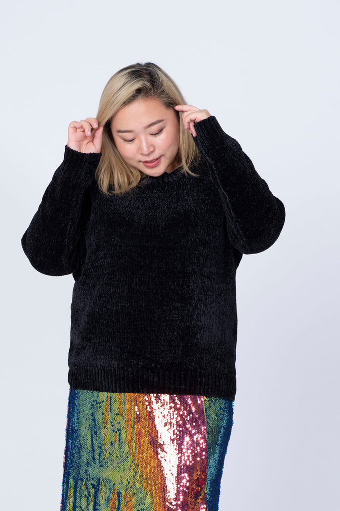 Velvet Knit In Black