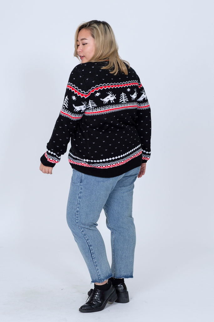 Christmas Knit In Black