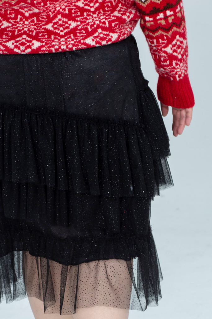 Tiered Sparkly Skirt