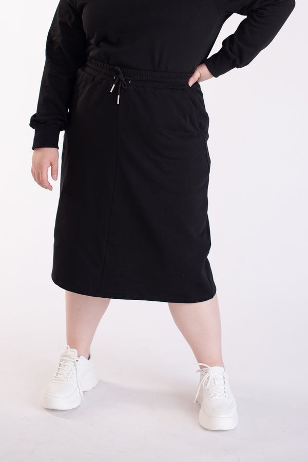 Sweat Skirt In Black