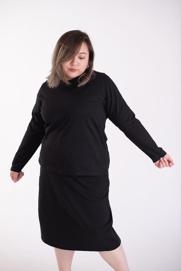 Long Sleeves T-shirt In Black