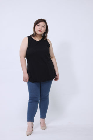 Basic Vest Top In Black