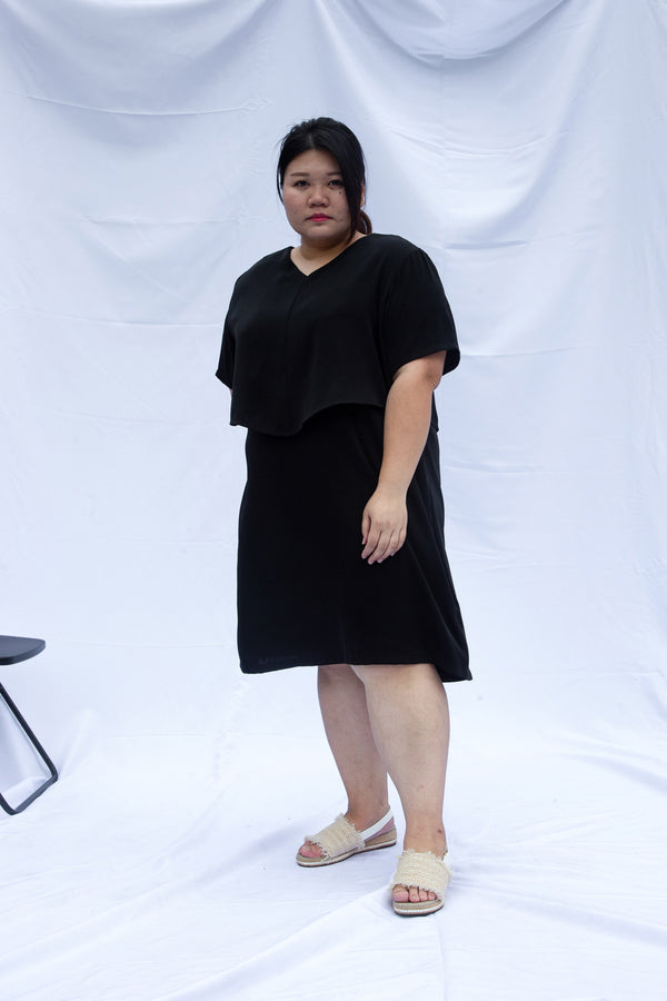 Black Double Layer Dress
