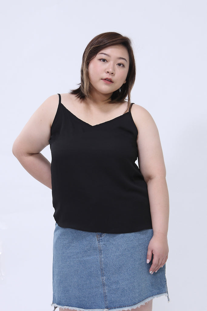 Basic Cami Top In Black