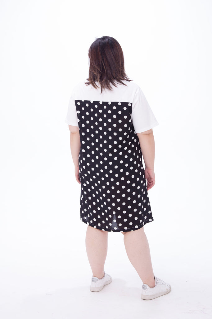T-Shirt Dress In Dot Print