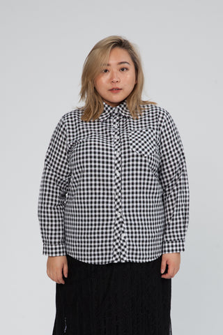 Checked Shirt With Long Sleeves In Black