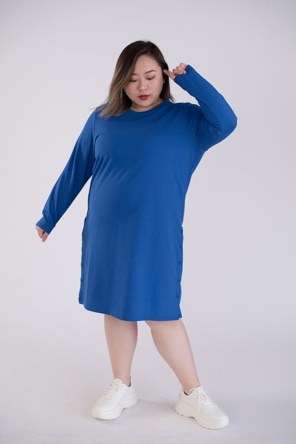 Sweat Dress In Blue