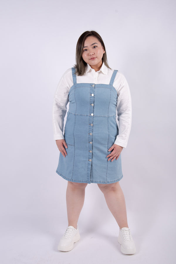 Button Front Denim Cami Dress