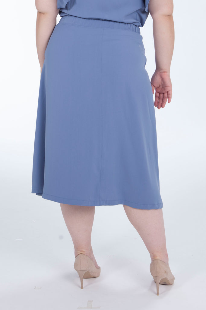 Chiffon Skirt In Blue