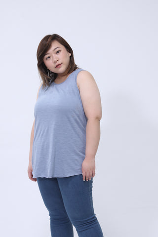 Basic Vest Top In Blue