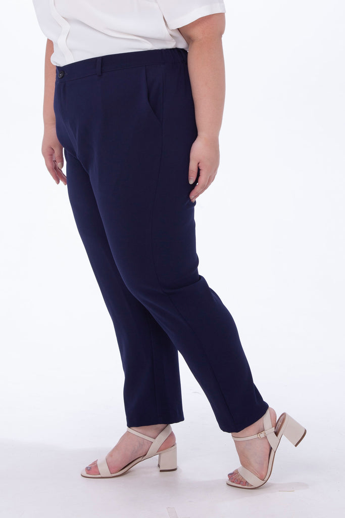 Tapered Trousers In Blue