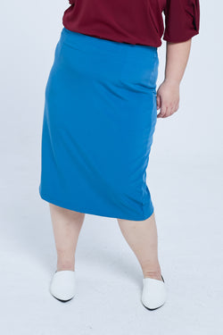Pencil Skirt In Blue