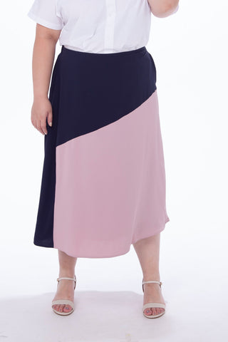 Blue and Pink Maxi Skirt