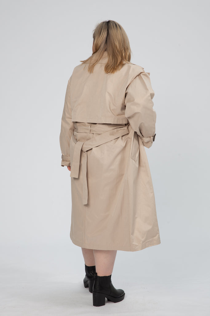 Trench Coat In Brown