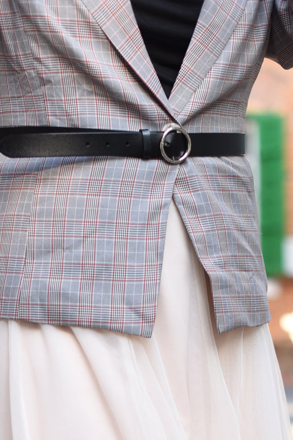 Circle Waist Belt With Silver Buckle