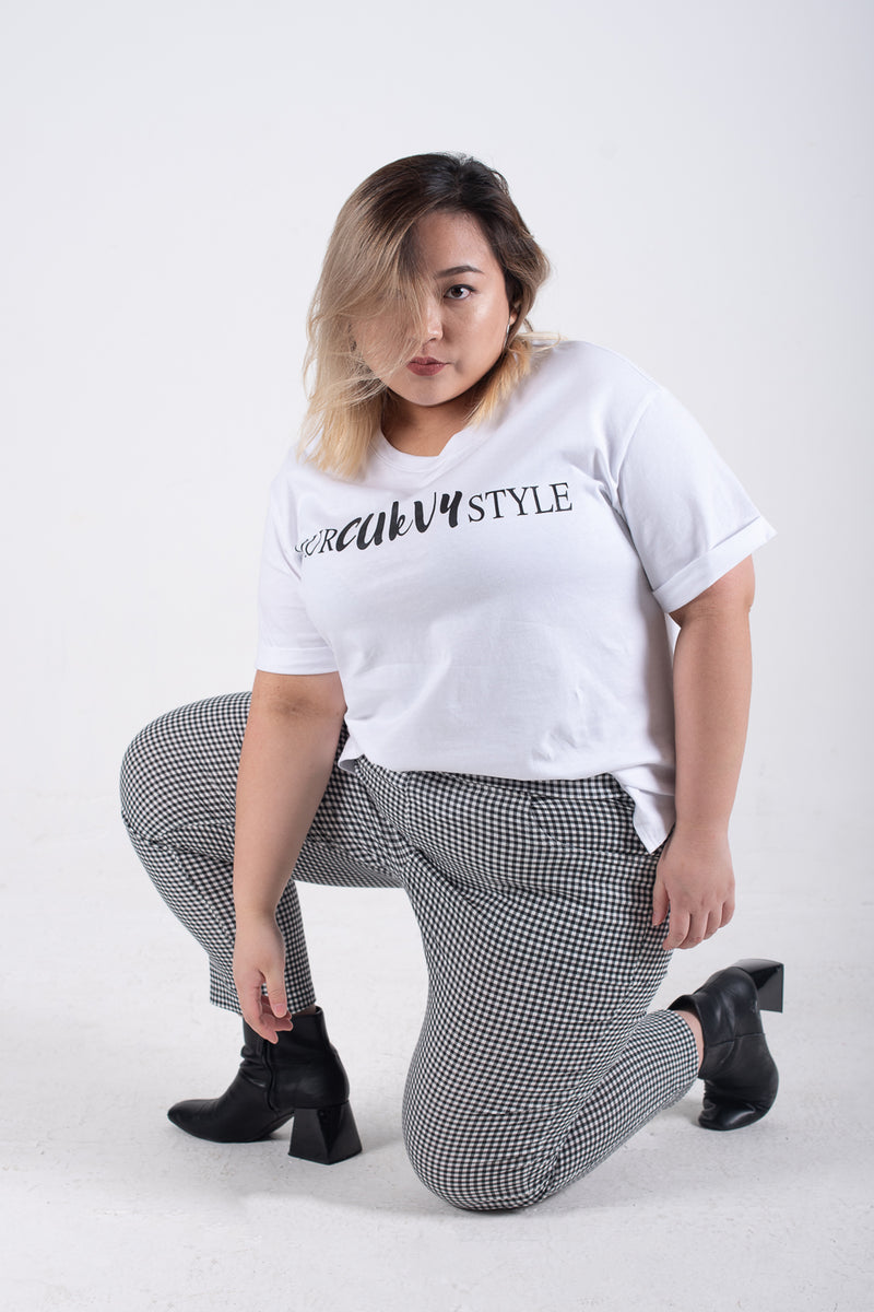 OURCURVYSTYLE T-Shirt In White