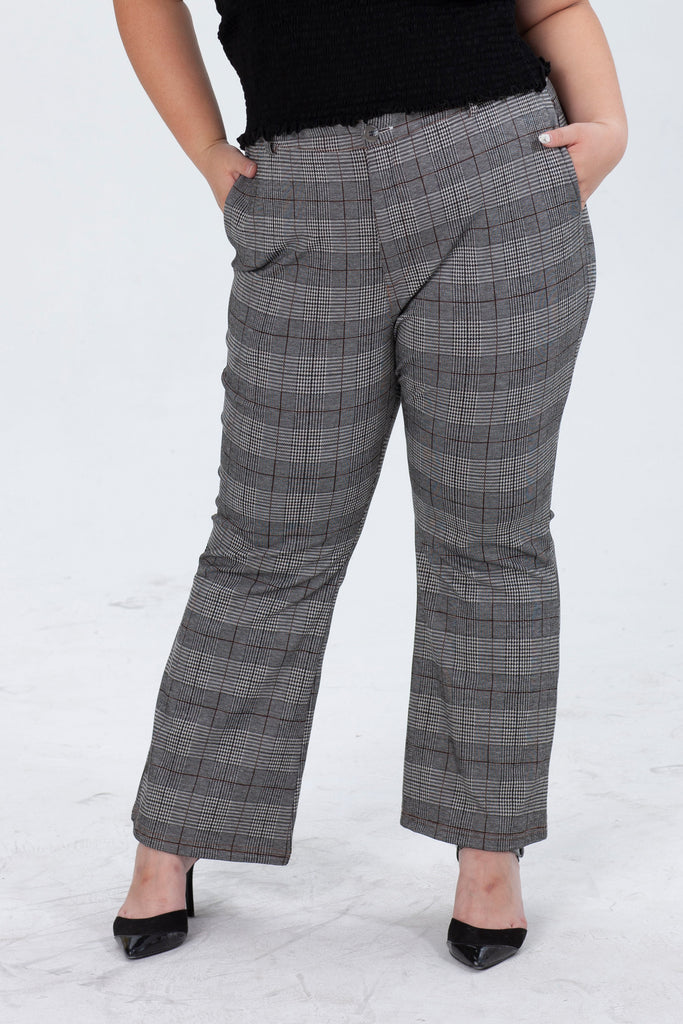 Flared Trouser In Check