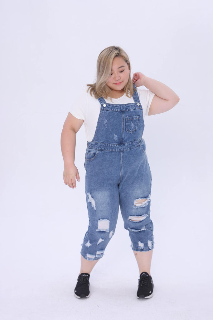 0ad67c66557 Denim Dungarees Jeans With Ripped Details – FCplus