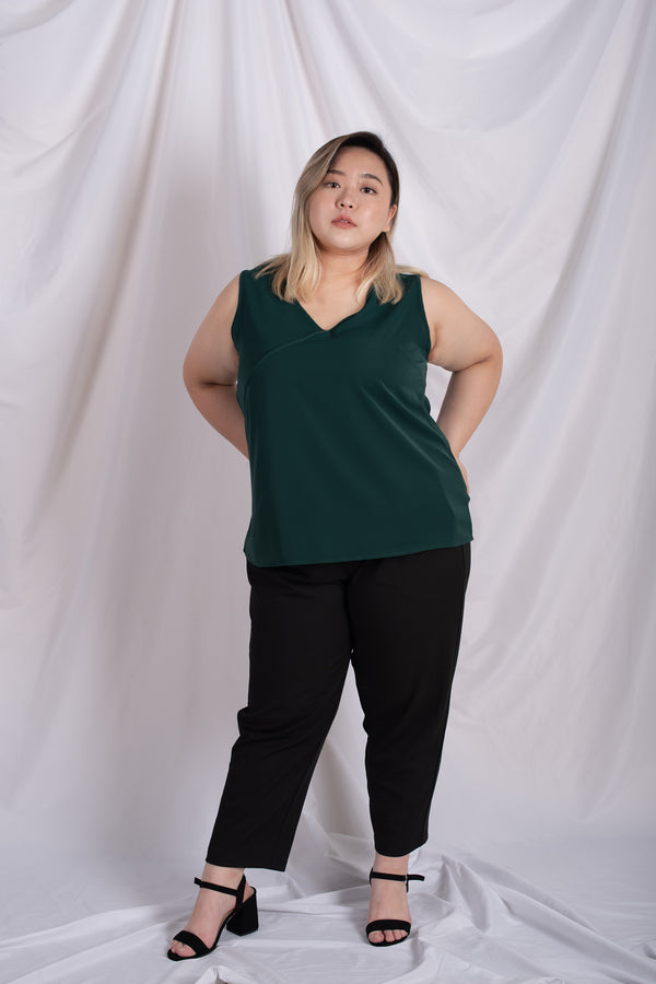 Chiffon Vest Top In Green