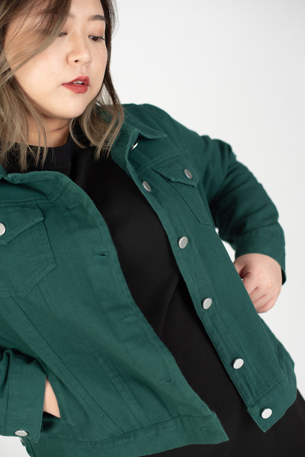 Trucker Jacket In Green