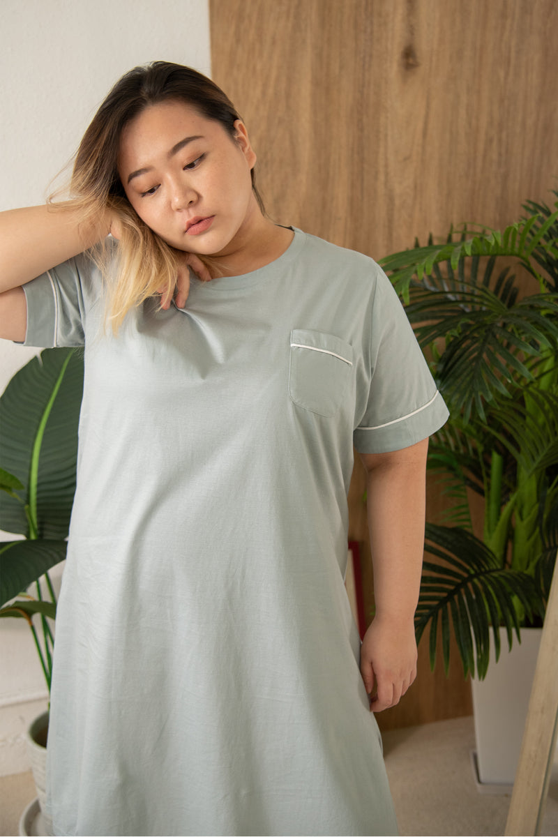 Cotton Pyjamas Dress In Green