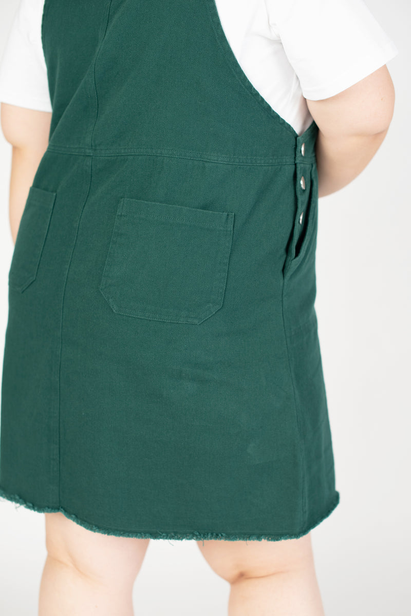 Dungarees Dress In Green