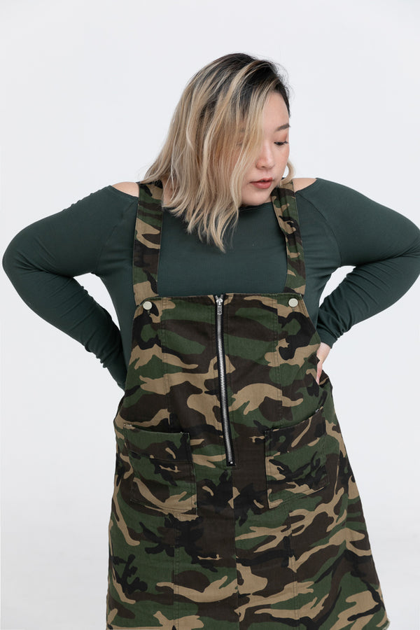 Camouflage Dungarees Dress