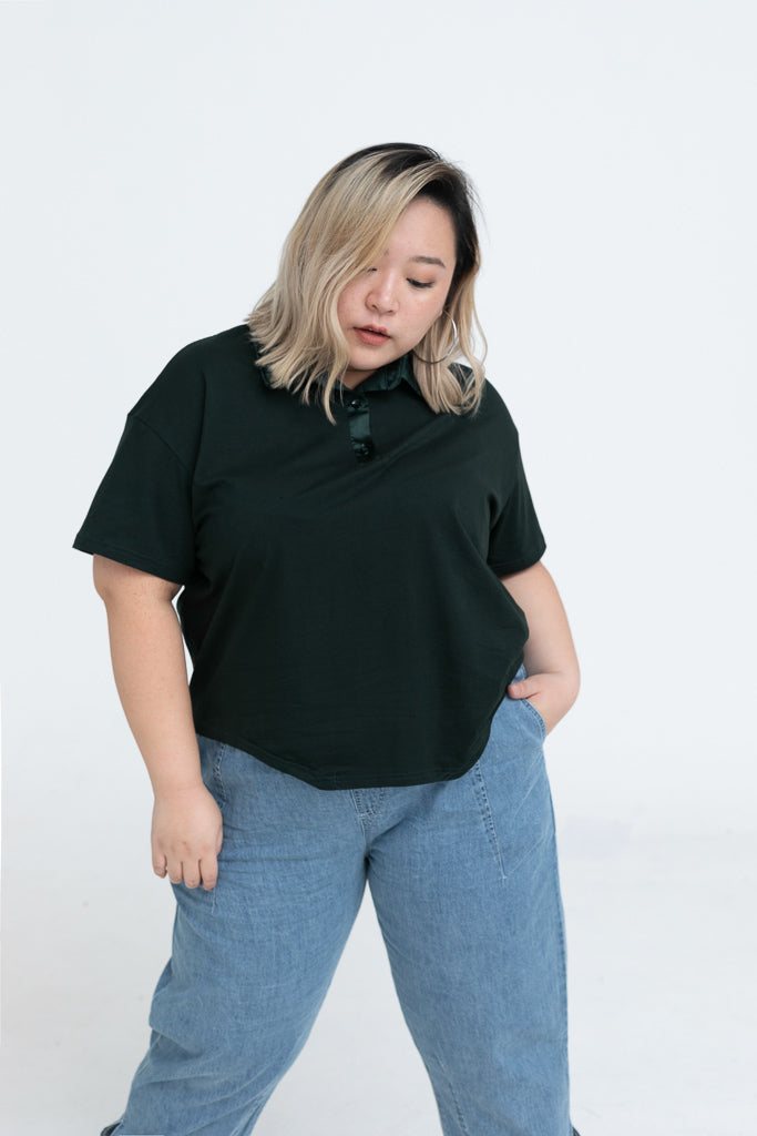 Polo Top In Green