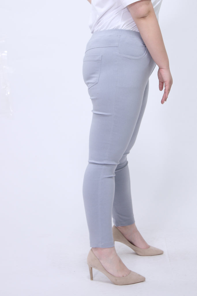 Skinny Jeggings With Elasticated Waist In Grey