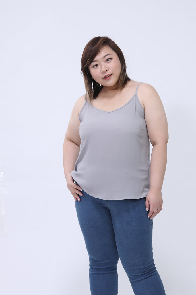 Basic Cami Top In Grey