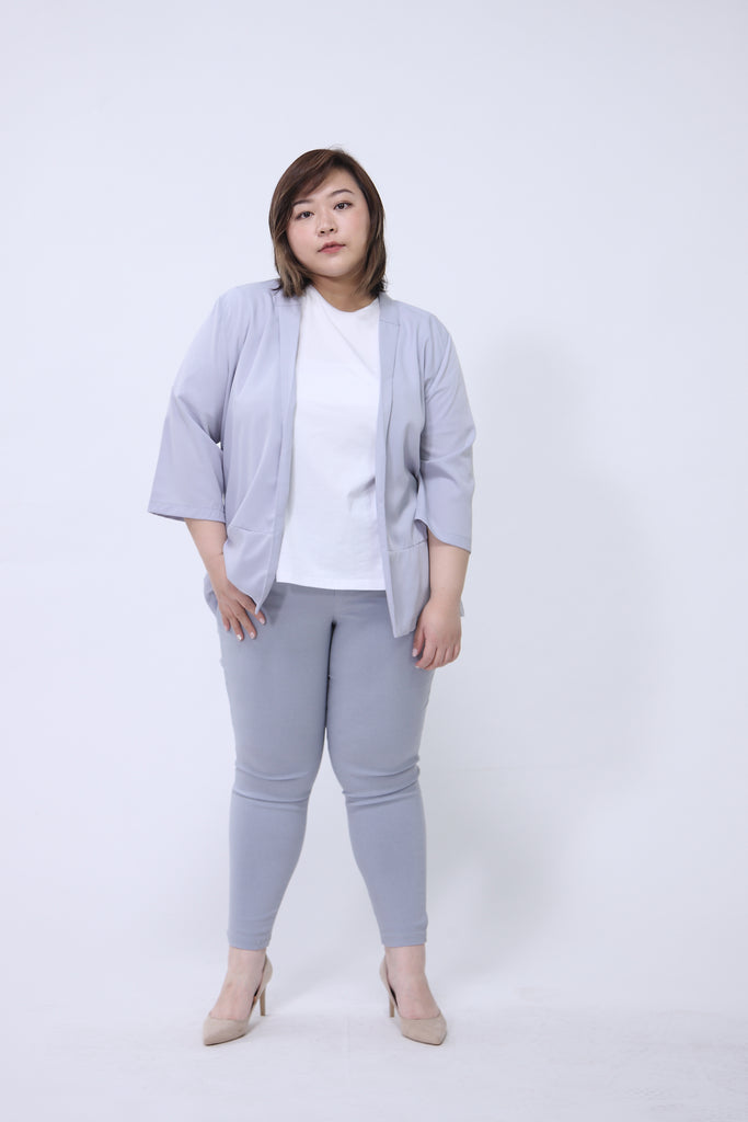 Chiffon Blazer In Grey